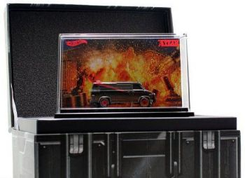 2013 SDCC Mattel Exclusive HotWheels A-Team Custom GMC Panel Van Diecast Model